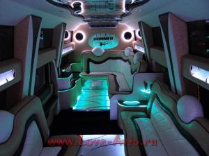Прокат Лимузин Hummer H2 Mega 30 мест, крыша в полный рост на свадьбу 0
