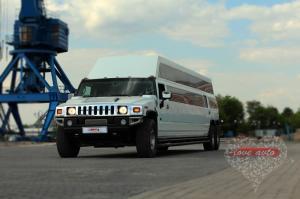 Прокат Лимузин Hummer H2 Mega 30 мест, крыша в полный рост на свадьбу 2